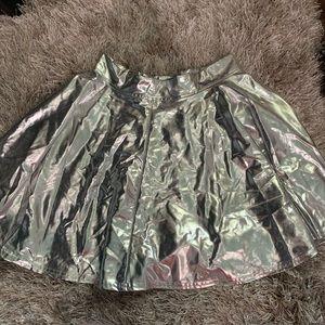Silver Metallic Skirt
